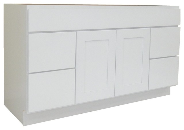 Ngy Shaker Collection Bathroom Vanity Cabinet White 60 X21