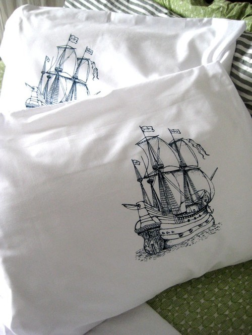 eclectic bed pillows by etsy.com