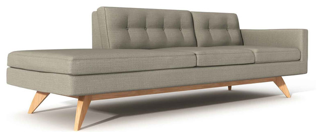 luna 94 one arm sofa with chaise modern indoor chaise lounge chaise lounge sofa modern
