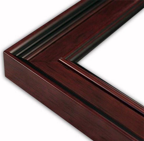 Wide Classic Dark Mahogany Picture Frame Solid Wood Traditional