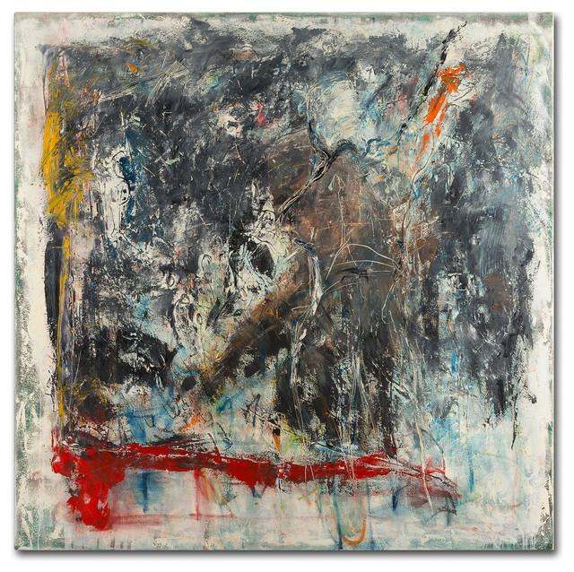 "Joarez &x27;furia E Paixao&x27; Canvas Art, 35""x35""."