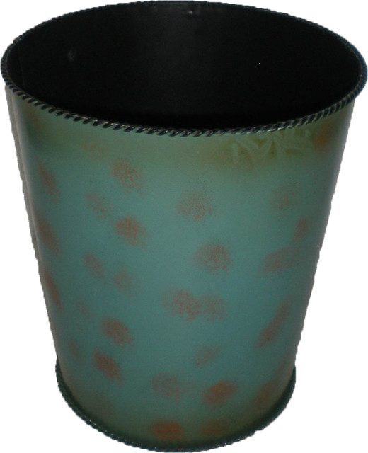 Turquoise waste basket wastebaskets by hiend accents for Turquoise bathroom bin