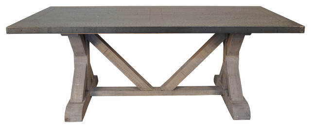 zinc top dining table diy industrial tables durability care