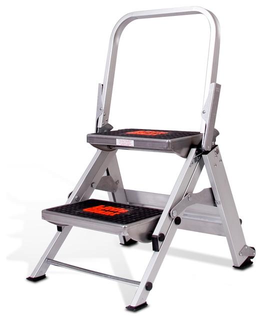 Stupendous Safety Step Model 2 Step Aluminum Stepstool Creativecarmelina Interior Chair Design Creativecarmelinacom