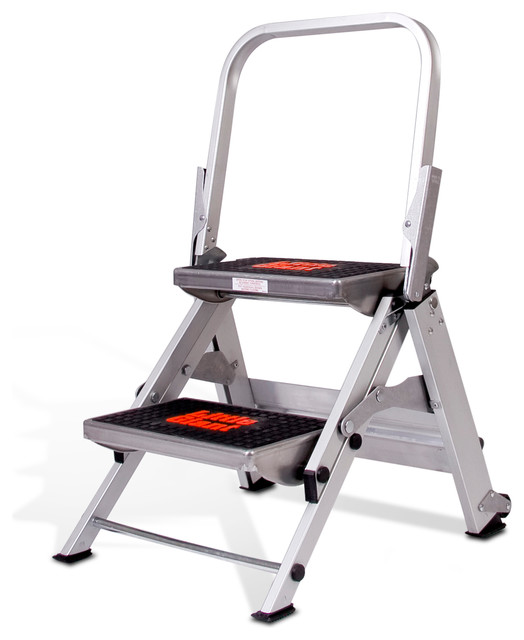 2 - Step Aluminum Safety Step Stool industrial-ladders-and-step-stools  sc 1 st  Houzz : aluminum step stools - islam-shia.org
