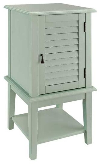 Shutter Door Table, Aqua