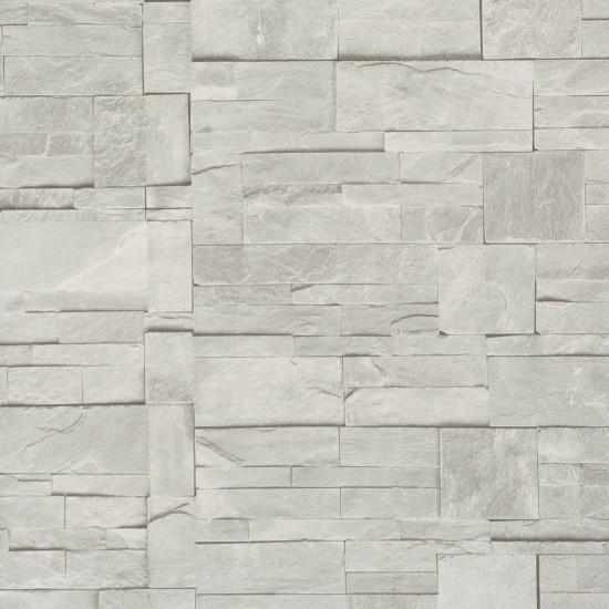 Faux Stone Wallpaper, Ash, Sample contemporary-wallpaper