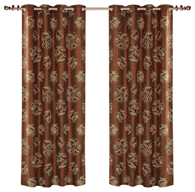 Dolce Mela - Dolce Mela Dmc464 Window Treatments Damask Drapes ...