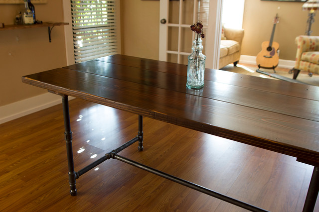 6ft Iron Wood Dining Table Rustic Dining Tables Los Angeles