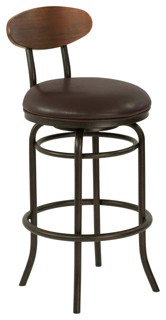 Remarkable Kamden 30 Bar Metal Swivel Bar Stool Ford Brown Leather Sedona Wood Gmtry Best Dining Table And Chair Ideas Images Gmtryco
