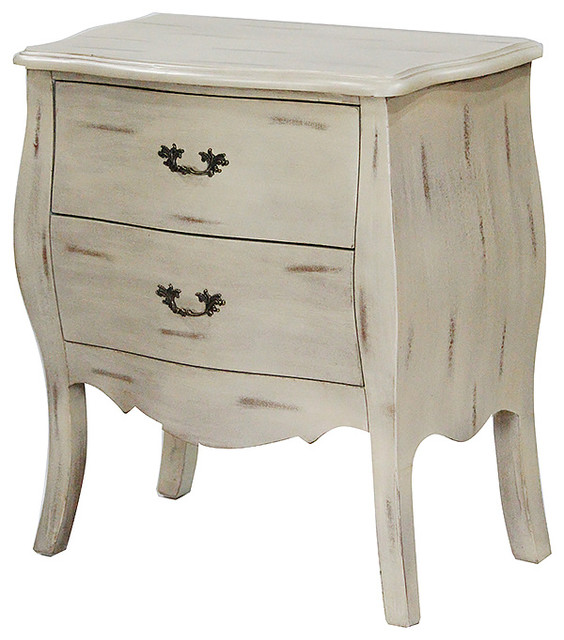 Heirloom 2-Drawer Bombay Chest, Taupe Wash.