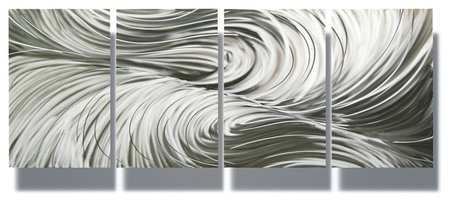 Metal Wall Art Decor Abstract Contemporary Modern Sculpture Hanging ...