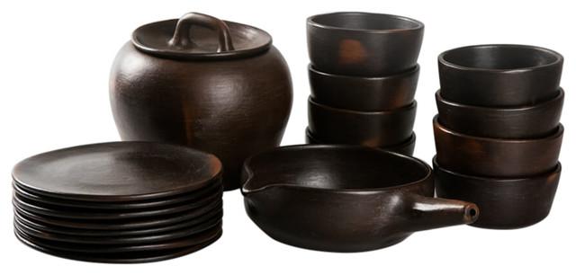 Bocono Pottery Set, Set of 14