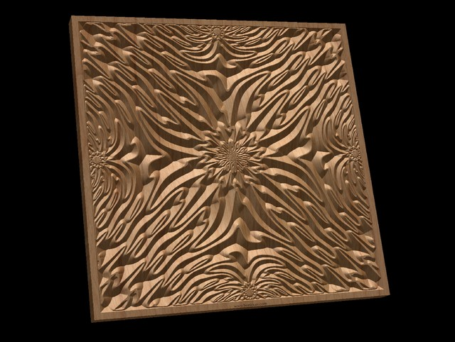 TMGW56 Wavy pattern Vector file for V- bit carving with software Vectric Aspire,