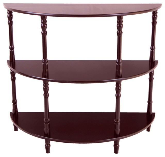 half moon console table traditional console tables by megahome. Black Bedroom Furniture Sets. Home Design Ideas