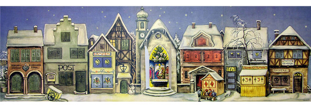 Sellmer Advent, Panorama Village Scene.