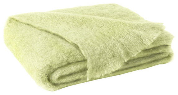 Brushed Mohair Throw Honeydew By Lands Downunder Throws