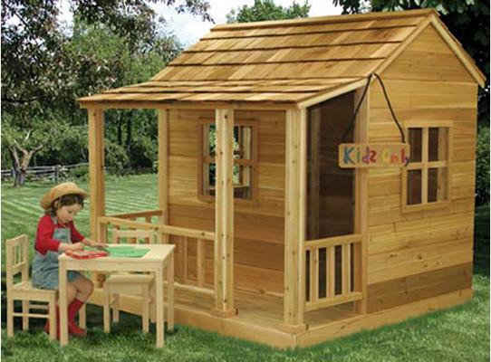 little cedar playhouse outdoor playhouses by kids