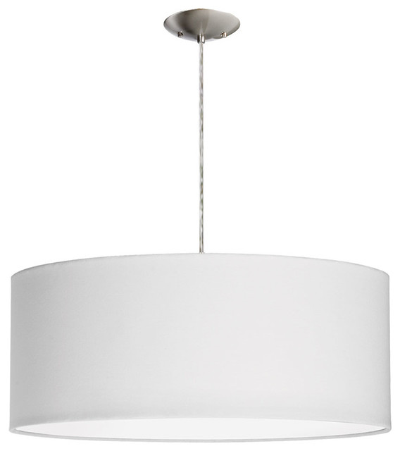 Dainolite 3 Light Drum Pendant With White Shade And Diffuser