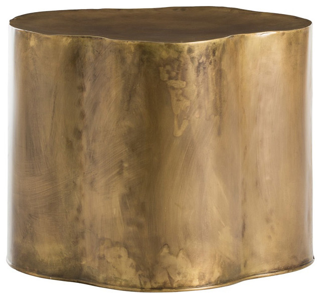 Lowry End & Side Tables, Antique Brass.