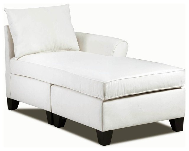 Right Arm Chaise Light Slate Contemporary Indoor Chaise Lounge Chairs