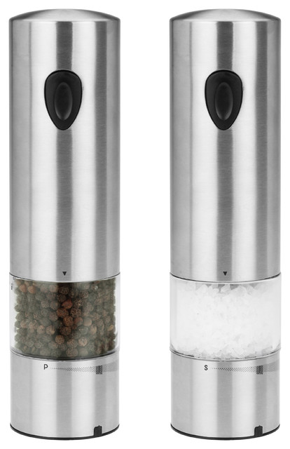 Kalorik Rechargeable Stainless Steel Salt And Pepper