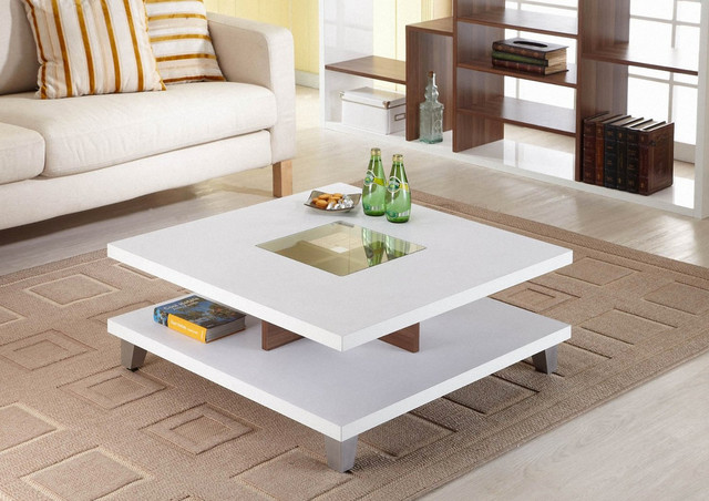 Enitial Lab Lendon Square Coffee Table White Modern