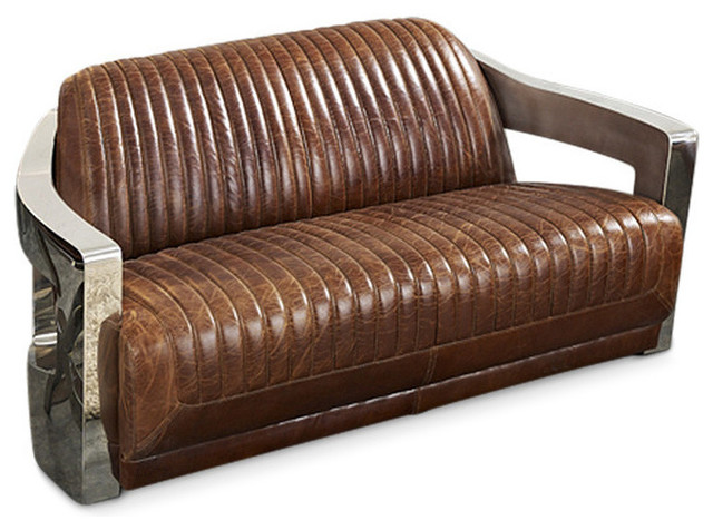 Concord Sofa, Milk Chocolate Leather