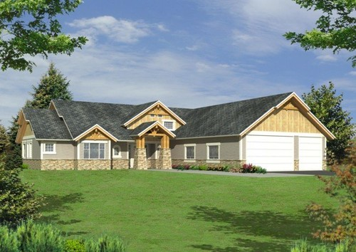 Update l shaped home for L shaped ranch house plans