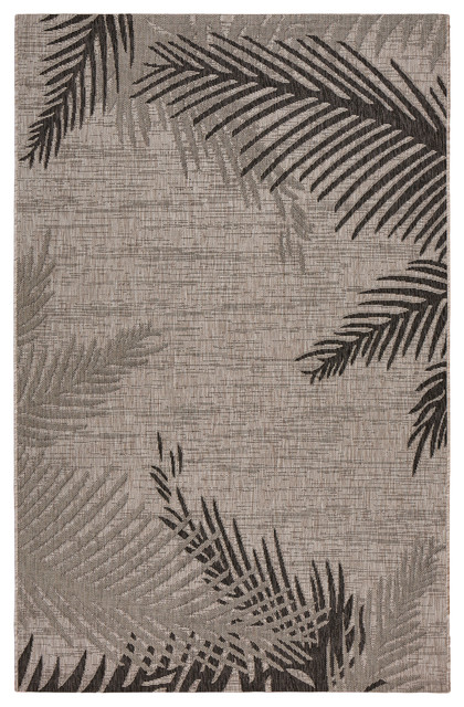 Captiva Shaded Palms Indoor/outdoor Area Rug, 5&x27;x7&x27;.