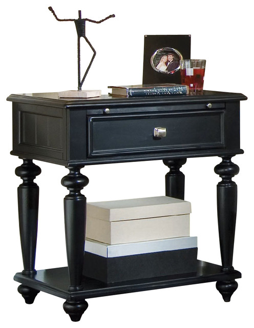 American Drew Camden Dark Leg Nightstand In Black