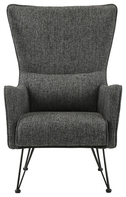 Mid-Century Modern Contemporary Accent Chair, Ash Gray. -1