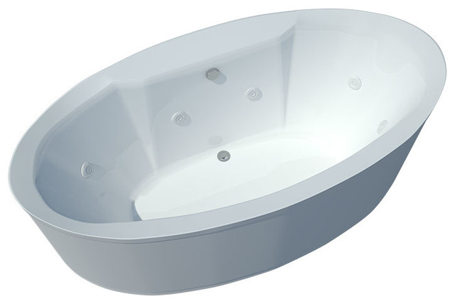 freestanding tub with jets. Atlantis Tubs 3468SW Suisse 34x68x24 Inch Freestanding Whirlpool Jetted  Bathtub traditional bathtubs