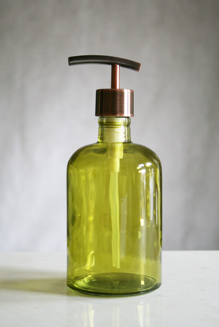 Rail19 Recycled Glass Soap Dispensers modern-bathroom-accessories