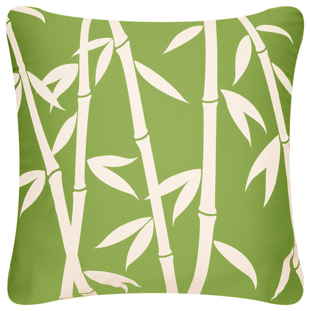 Bamboo Forest Organic Cotton Throw Pillow Cover Asian Decorative Delectable Apple Green Decorative Pillows