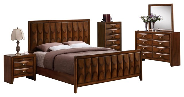 Tiki oak bedroom collection transitional bedroom furniture sets by ctc furniture inc for Transitional bedroom furniture