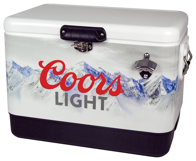 Coors Light Stainless Steel Ice Chest.