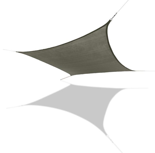 Sun Shade Sail Large Square 18&x27; X 18&x27;, Silver.