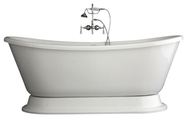 Hotel Collection Bateau Double Slipper Pedestal Bathtub Faucet Package