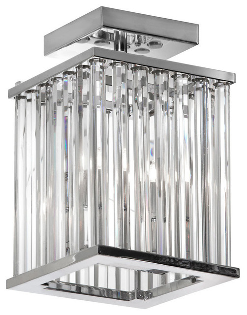 Aruba 2-Light Flush Mount In Polished Chrome.