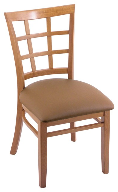 "Beechwood Furniture Exterior 3130 18"" chair with medium finish, allante beechwood seat"
