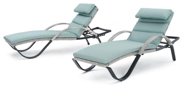 Nizuc Lounge Chairs, Set Of 2, Aqua.