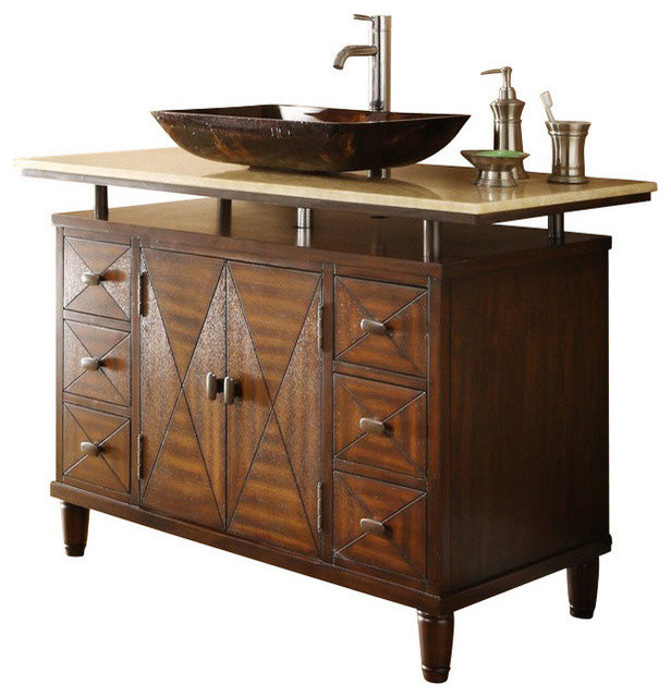 Lovely Traditional Bathroom Vanities And Sink Consoles by Chans Furniture