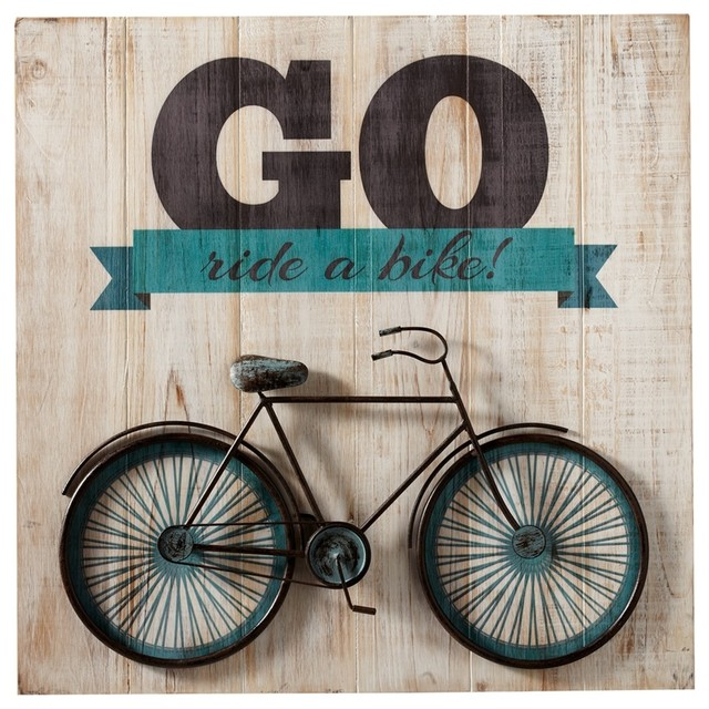 "Bicycle Wall Decor go ride a bike"" bicycle wall art - contemporary - kids toys and"