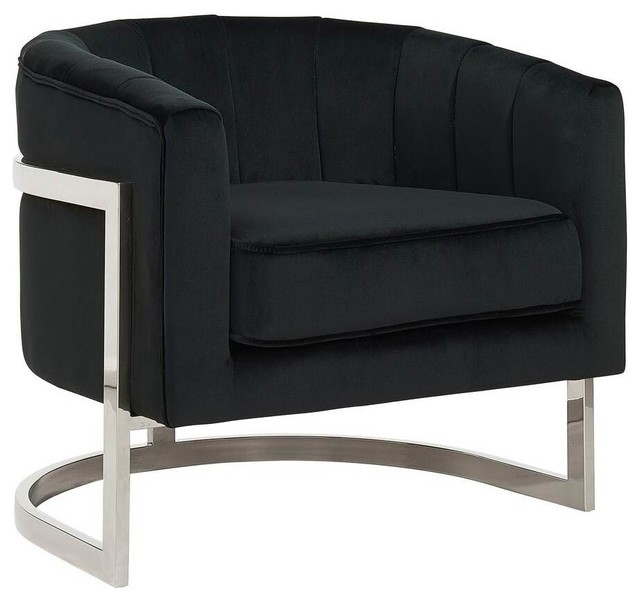 Awe Inspiring Contemporary Accent Chair Black Ncnpc Chair Design For Home Ncnpcorg