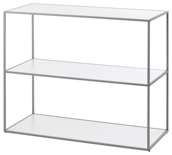 Twin Book Case Small, Cool Gray Frame by by Lassen