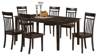 Heca cap kitchen table set transitional dining sets for 9 piece dining room set with leaf