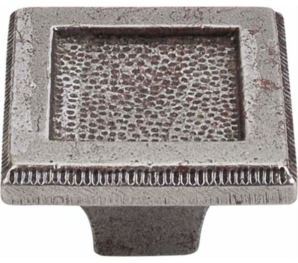 Top Knobs: Square Inset Knob 2 Inch - Cast Iron - Traditional - Cabinet And Drawer Knobs - by ...