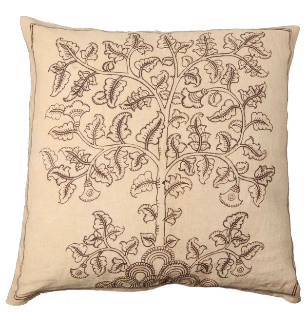 Tree Of Life Hand Painted Silk Pillow Asian Decorative Pillows Awesome Hand Painted Decorative Pillows