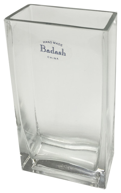 Crystal Rectangular Vase Contemporary Vases By Design Board